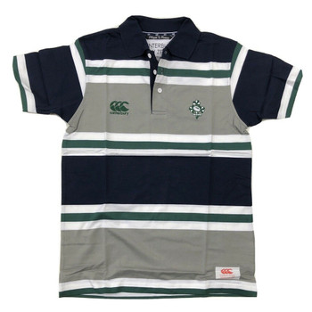 CCC ireland rugby cotton striped polo - Large