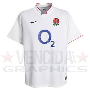 NIKE England Home short sleeved Rugby Shirt [white]
