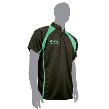 KOOGA teamwear back panel match shirt [black/green]