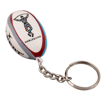 GILBERT harlequins rugby ball key ring