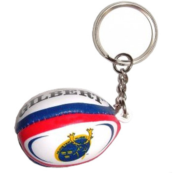 GILBERT munster rugby ball key ring
