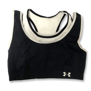 UNDER ARMOUR duplicity reversible sports bra [black/white]