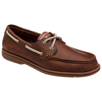 ROCKPORT Sea Drive 2 Eye Leather Boat Shoes [chili] - EU 42.5 (USA 9)