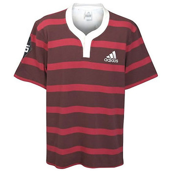 ADIDAS Rugby Culture Short Sleeved Rugby Shirt [red]