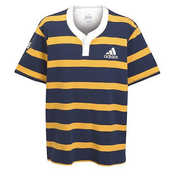 ADIDAS Rugby Culture Short Sleeved Rugby Shirt [navy]