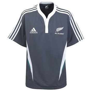 ADIDAS All Blacks Training Short Sleeved Rugby Shirt [navy] - X-Large