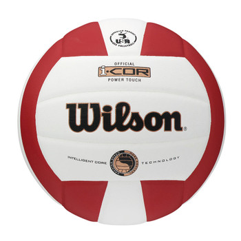 WILSON i-COR Power Touch Indoor Volleyball [white/red]