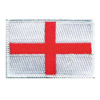 England Flag Embroidered Iron-on (or sew on) Badge