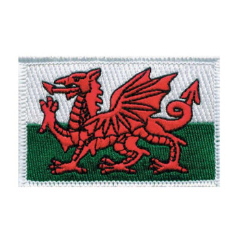 Wales Flag Embroidered Iron-on (or sew on) Badge
