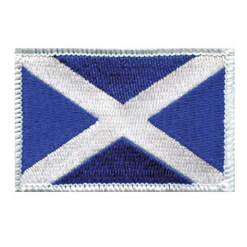 Scotland Flag Embroidered Iron-on (or sew on) Badge
