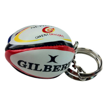 GILBERT newport-gwent dragons rugby ball key ring