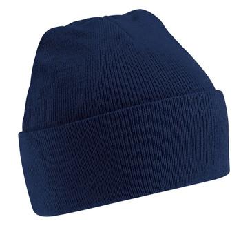 BEECHFIELD plain knitted hat [navy]