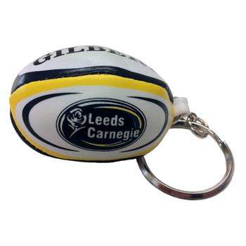 GILBERT Leeds Carnegie rugby ball key ring