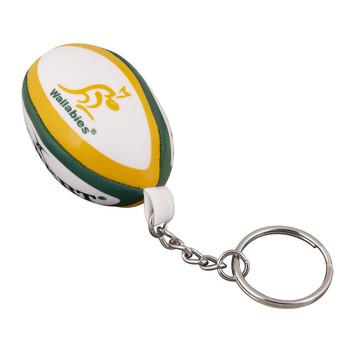 GILBERT australian wallabies rugby ball key ring