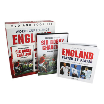 England Football World Cup Legends DVD and Book Set