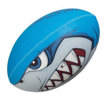 GILBERT Randoms Bite Force Shark rugby ball