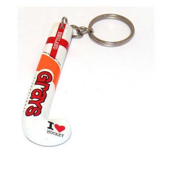 GRAYS hockey stick key ring - england