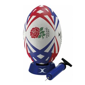 GILBERT england rugby starter pack (ball, pump, kick tee)