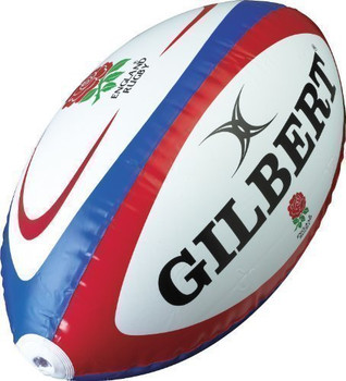 GILBERT England Inflatable Rugby Ball [60cm]
