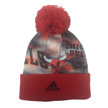 ADIDAS chicago bulls basketball woolie hat [red]