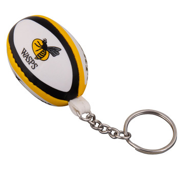 GILBERT Wasps rugby ball key ring