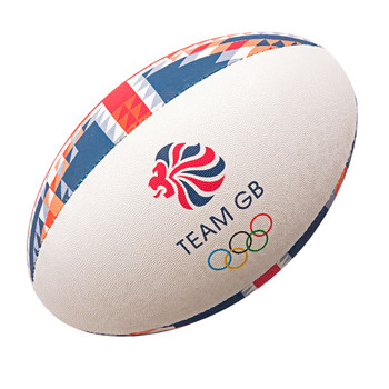 GILBERT team GB official olympic supporter rugby ball [red/blue]