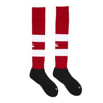 CCC hooped team sock [red/white]