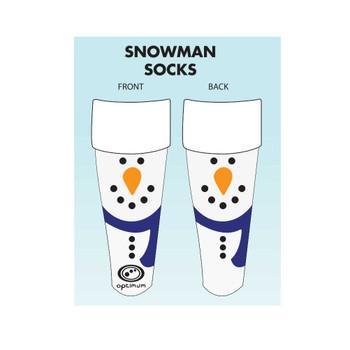 OPTIMUM christmas snowman rugby socks [white]-Senior (7-11 UK)