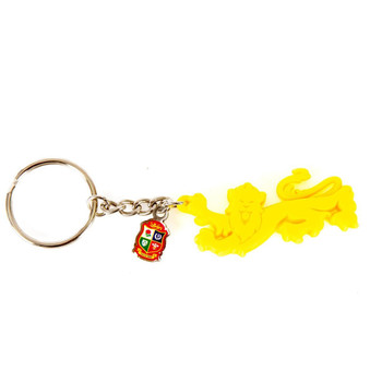 British & Irish Lions Rugby 3D PVC Lion Key Ring [yellow]