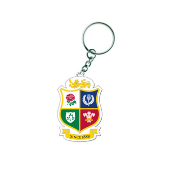 British & Irish Lions Rugby 3D PVC Shield Key Ring [white]