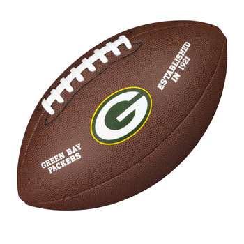WILSON green bay packers NFL official senior composite american football