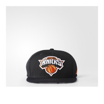 ADIDAS New York Knicks basketball snapback flat cap [black]