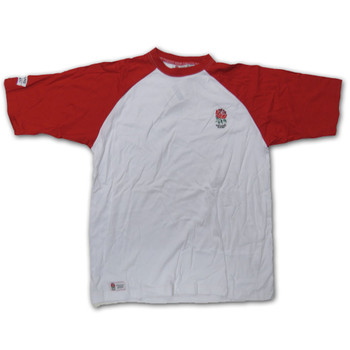 England Rugby classic tee shirt crew neck logo chest size XL [white/red]