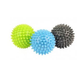 FITNESS MAD spikey massage ball set of 3 [blue/grey/lime]