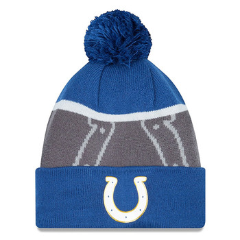 NEW ERA indianapolis colts NFL bobble beanie hat [blue/grey]