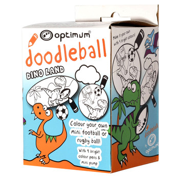 OPTIMUM doodleball kids dino land mini rugby ball box set