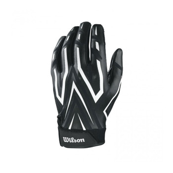 WILSON american football clutch receiver gloves size S [black/white]