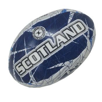 GILBERT scotland memorabilia mini (14cm approx) rugby sponge ball [white/navy]