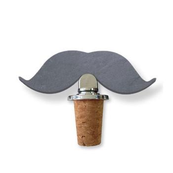 SPARQ cork wine stopper [mustache]