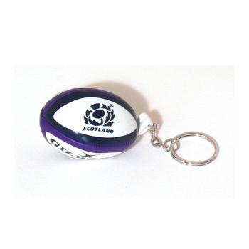 GILBERT scotland rugby ball key ring [navy/purple]