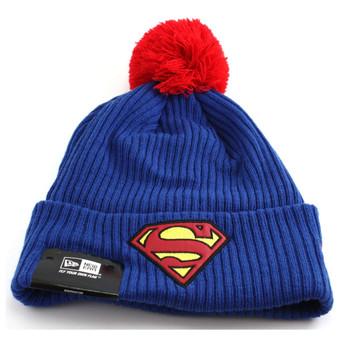 NEW ERA superman bobble beanie hat [blue/red]