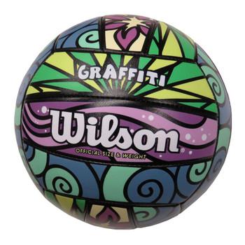 WILSON graffiti beach volleyball [green/purple]