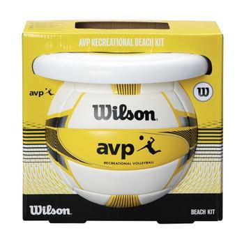 WILSON avp beach kit volleyball + FREE air disc [white/yellow]