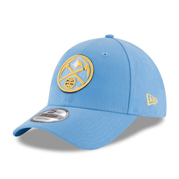 NEW ERA denver nuggets 9forty adjustable NBA basketball league cap [sky]
