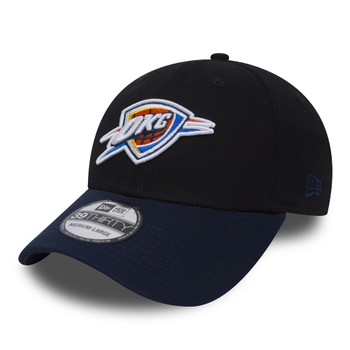 NEW ERA oklahoma city thunder 39thirty fitted basketball cap [black/navy]
