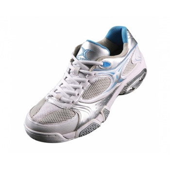GILBERT phoenix netball shoe [white/sky]