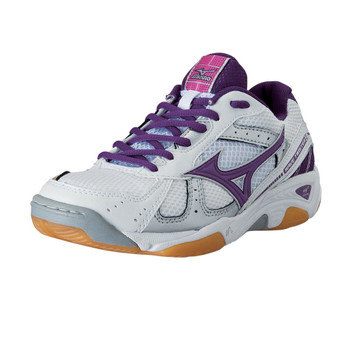MIZUNO Wave twister 2 Indoor Shoe [white/purple/pink]