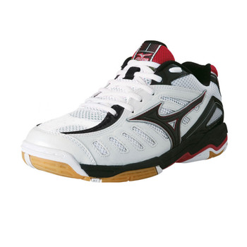 MIZUNO Wave Rally 4 Indoor Shoe [white/black/red]