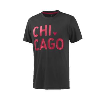 Adidas NBA Basketball Chicago Bulls T-shirt Male Black