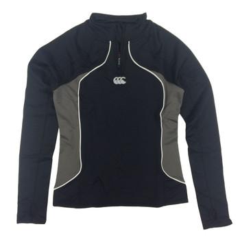 CCC baselayer cold basic long sleeve zipped tee womens [black]